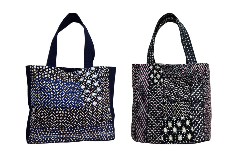 Tinted by Nature Sashiko Bag
