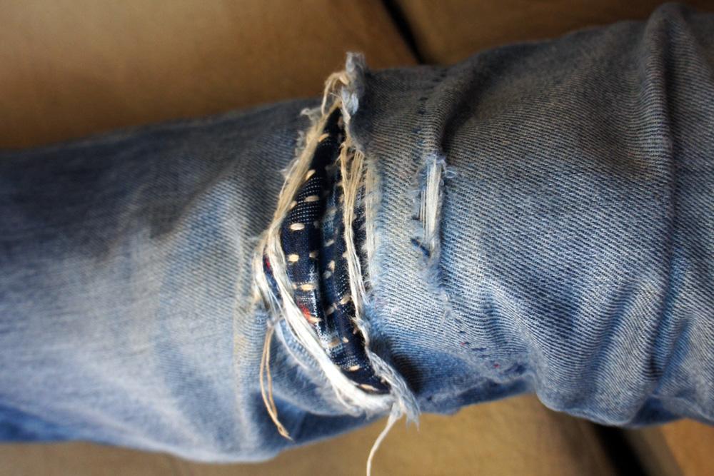 Sashiko Mending Jeans 2