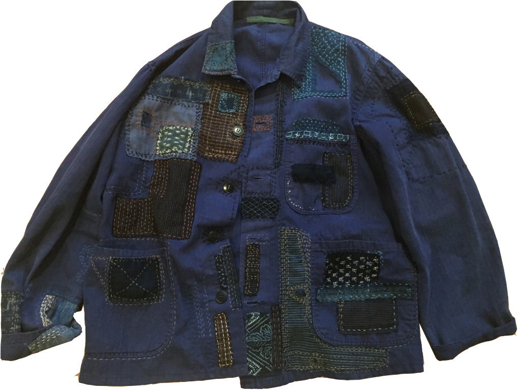 Beautiful Sashiko Jacket from Workshop Graduate | Sashiko Workshop Graduate Makes 001