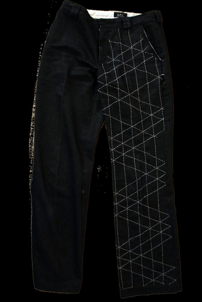 Hand-Stitched Sashiko Jeans 2