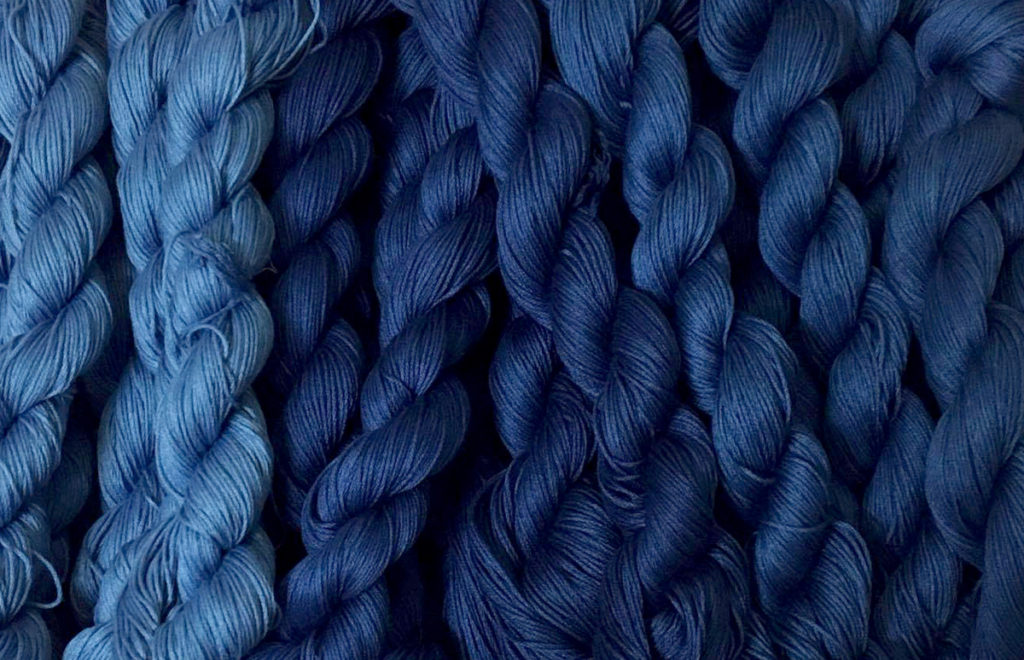 Natural Indigo Dye Thread Product of India