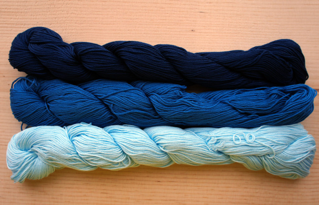 Mono Color Sashiko Thread Dyed Synthetically Indigo Blue