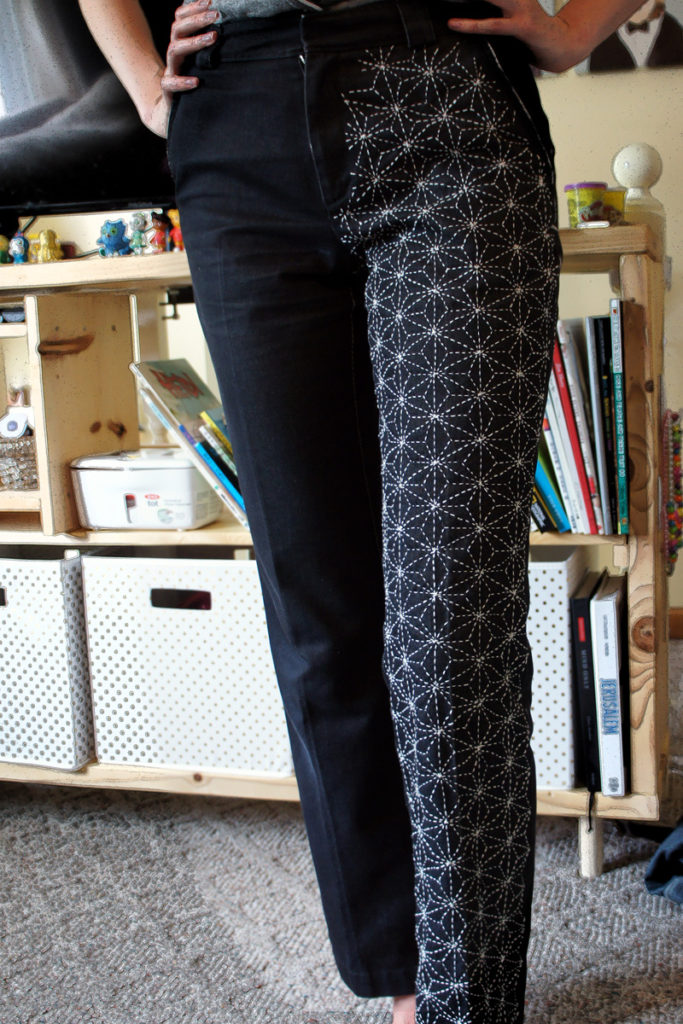 Hand-Stitched Sashiko Jeans Marina