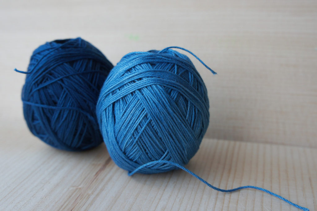 Natural Indigo Dyed Thread Bobbin