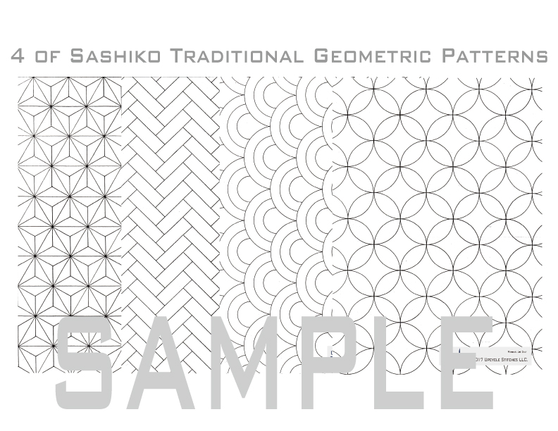 Sashiko Pattern Preprinted 2