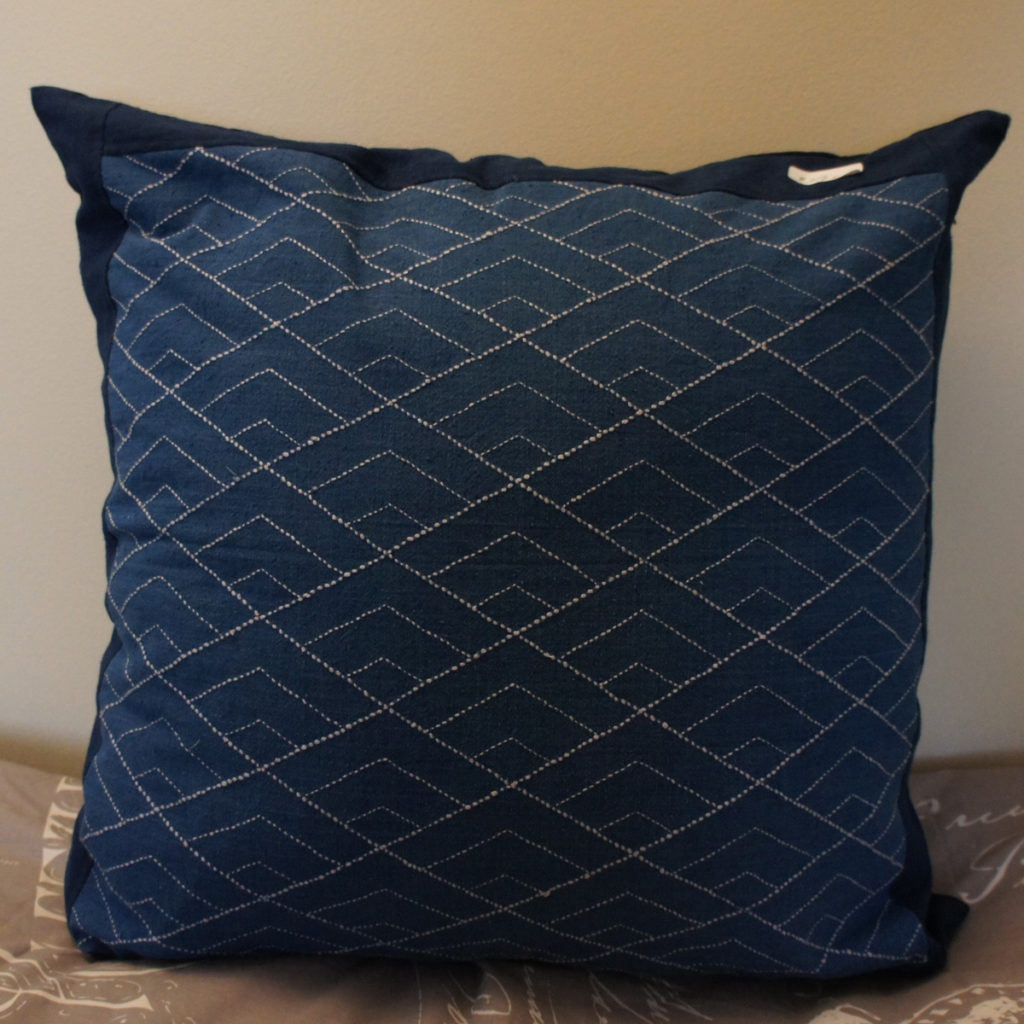 Hishi Seikaiha Cushion Cover