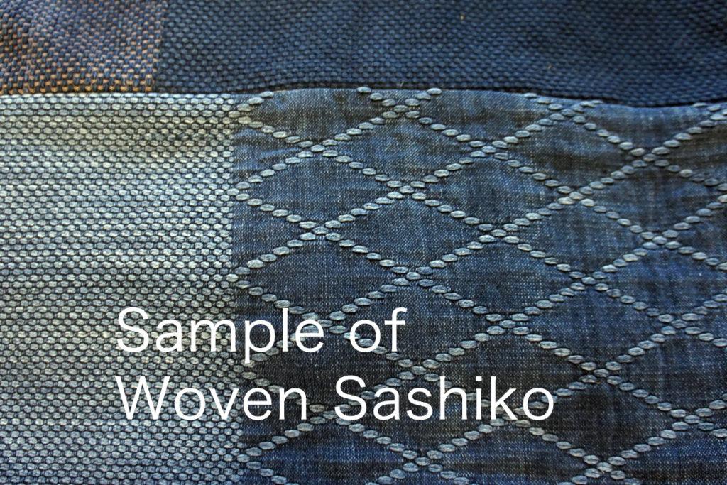 Stitched Sashiko and Woven Sashiko 3