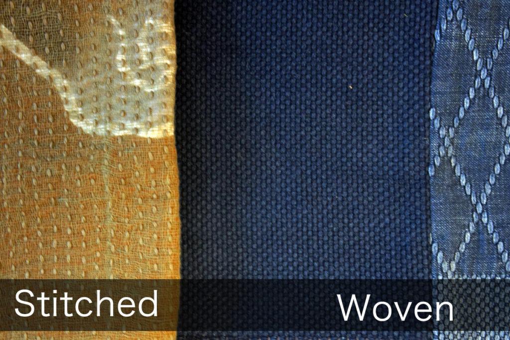 Stitched Sashiko and Woven Sashiko 5