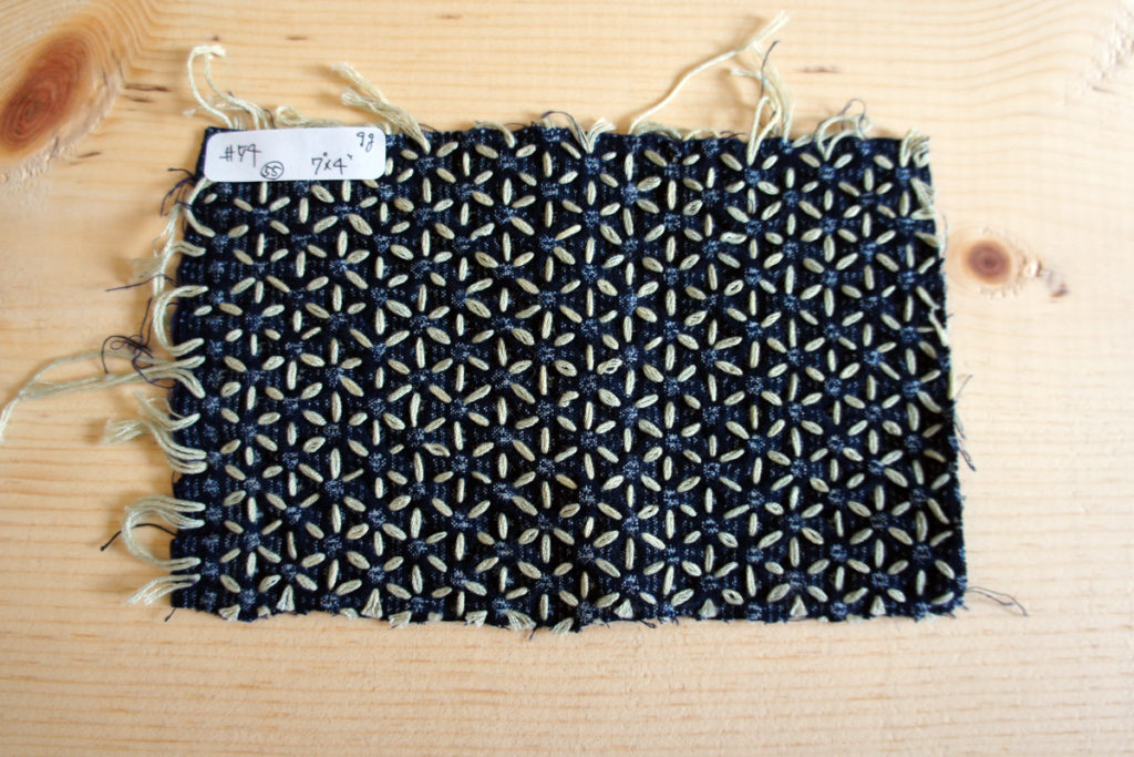Hitomezashi Sashiko Workshop Swatch