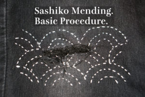 Basic Sashiko Denim Mending Cover