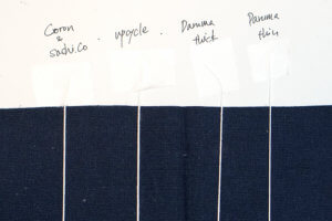 Sashiko Thread Thickness Comparison Cover