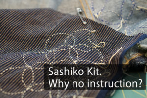Sashiko Instruction Cover