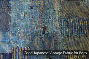 Good Japanese Vintage Fabric for Boro Cover