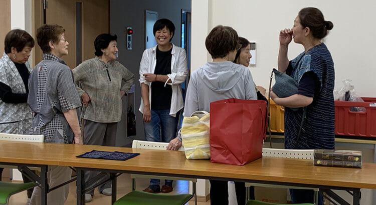 Keiko Visits Otsuchi Sashiko