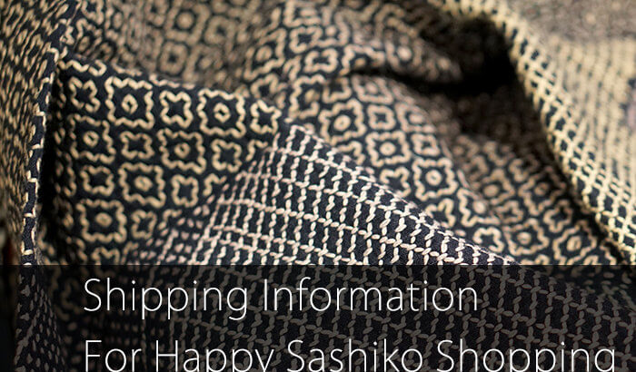 Sashiko Shipping Information