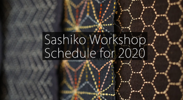 Cover Sashiko Workshop Schedule 2020