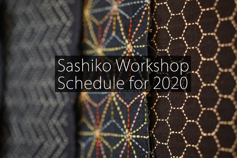 Cover Sashiko Workshop Schedule 2020